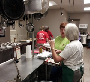Church kitchen and CERT volunteers