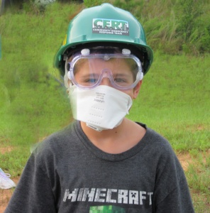 Our junior member, James in his PPE,